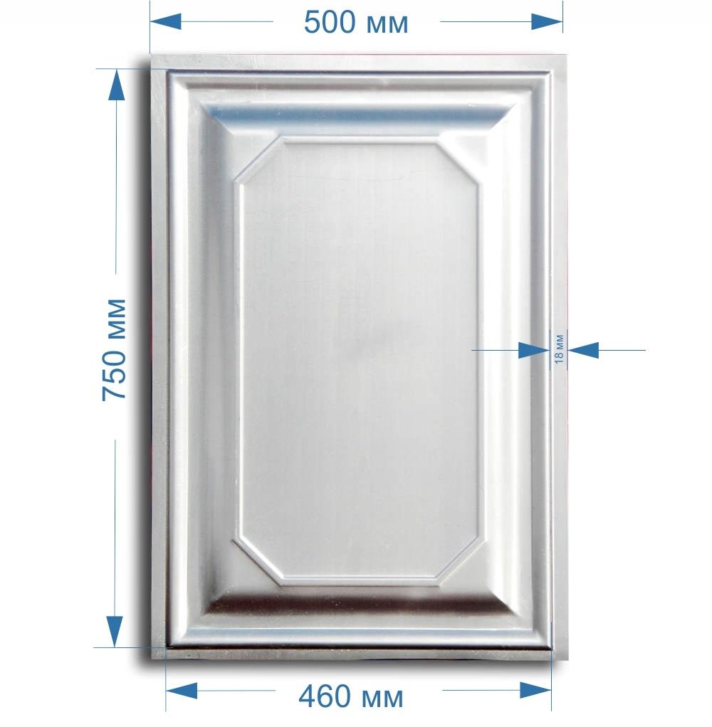Размеры штампованной металлической филенки