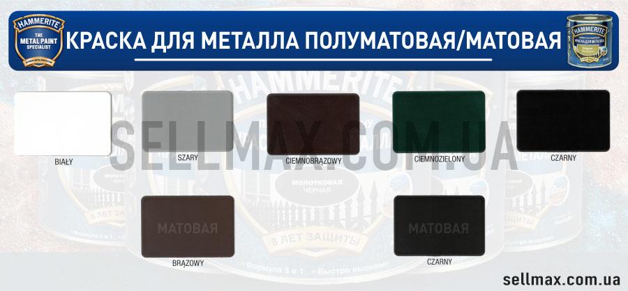 Палитра цвета матовой краски хаммерайт